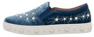 Aquazzura Cosmic Embellished Slip-On Sneakers