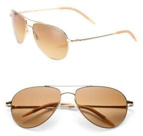 Oliver Peoples Benedict 16MM Aviator Sunglasses