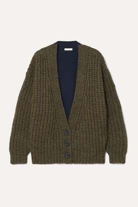 See by Chloe Two-tone Knitted Cardigan - Navy