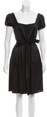 Prada Knee-Length Satin Dress w/ Tags