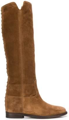 Via Roma 15 studded knee-high boots