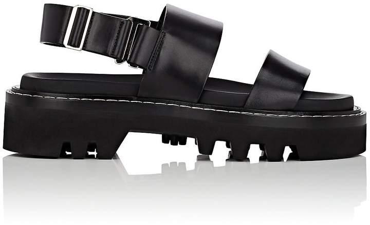 Calvin Klein CALVIN KLEIN WOMEN'S MARLI LEATHER DOUBLE-STRAP SANDALS