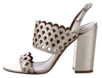 Tabitha Simmons Cutout Metallic Sandals