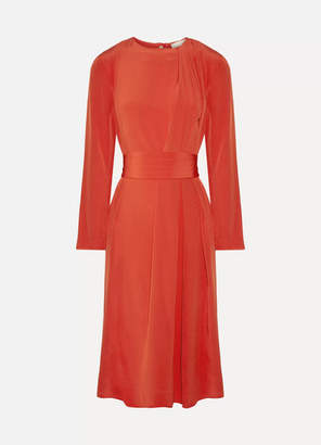 Vanessa Bruno Hermance Silk Crepe De Chine Midi Dress - Red