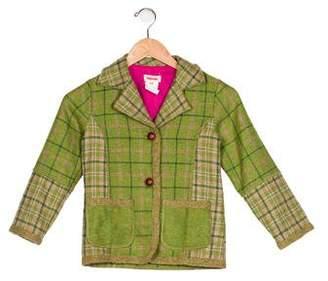 Catimini Girls' Plaid Wool-Blend Coat