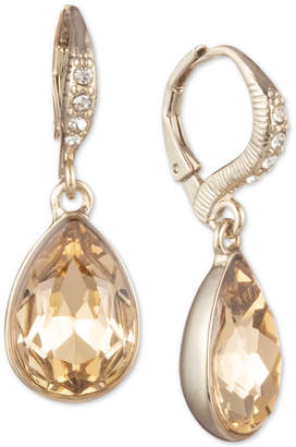 Givenchy Crystal Pear-Shaped Drop Earrings