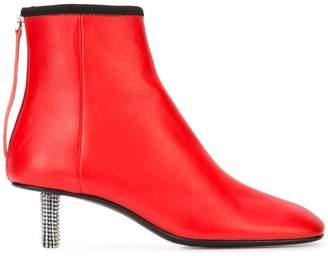 Calvin Klein embellished heel boot