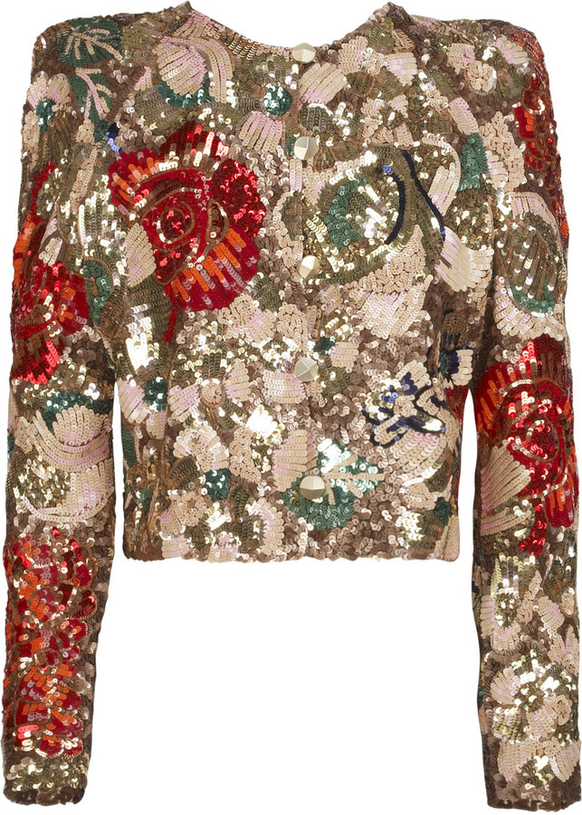 Stella McCartney Sequined silk-organza jacket