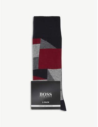 BOSS Colour block cotton socks