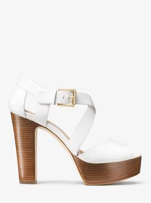 MICHAEL Michael Kors Jodi Leather Platform Sandal