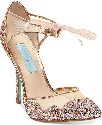 Blue by Betsey Johnson Stela Front-Tie Pumps $129 thestylecure.com