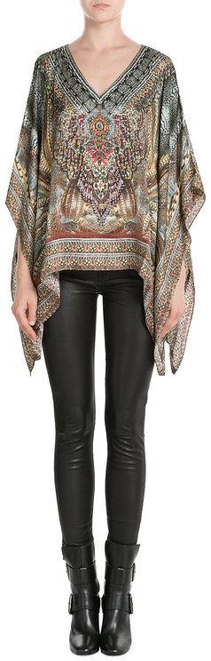 CamillaCamilla Embellished Silk Tunic