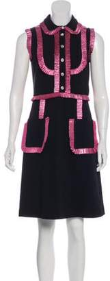 Gucci Ruffle-Trimmed Mini Dress w/ Tags Black Ruffle-Trimmed Mini Dress w/ Tags
