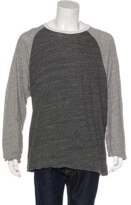 James Perse Color-Blocked Long Sleeve T-Shirt