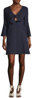 ABS by Allen Schwartz Bell-Sleeve Tie Dress