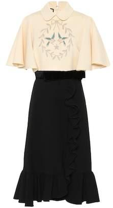 Gucci Embroidered midi dress