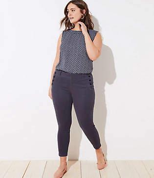 927dedf2059 LOFT Gray Women s Skinny Pants on Sale - ShopStyle