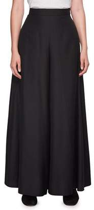 The Row Betsy Full Poplin Long Skirt