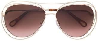 Chloé Eyewear metal frame sunglasses