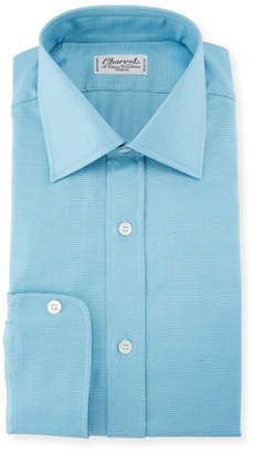 Charvet Men's Textured Solid Dress Shirt