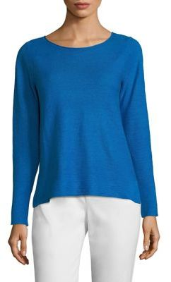 Eileen Fisher Linen Knit Top $158 thestylecure.com
