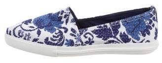 Miu Miu Print Pointed-Toe Loafers