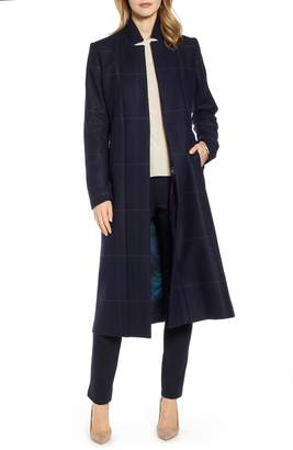 Ted Baker Checked Tie Waist Trench Coat