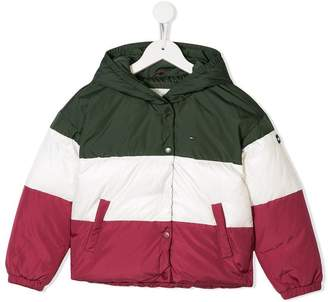 Tommy Hilfiger Junior zipped padded coat