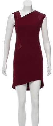 Helmut Lang Leather Accented Mini Dress