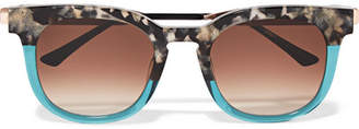 Thierry Lasry Cat-eye Two-tone Acetate And Gold-tone Sunglasses - Tortoiseshell