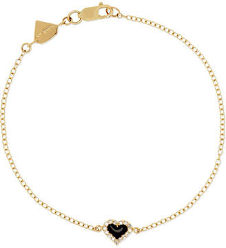 Alison Lou 14-karat Gold, Diamond And Enamel Bracelet