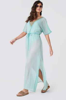 Na Kd Boho Embellished Caftan Dress