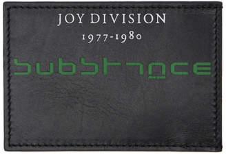 Raf Simons Black Joy Division Substance Card Holder