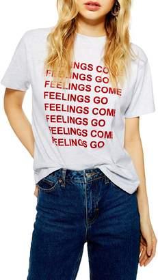 Topshop Feelings Come Tee