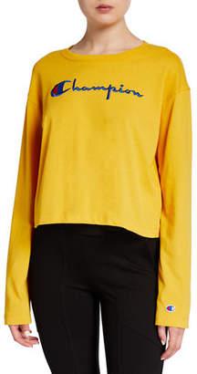 Champion Europe Reverse Weave Big Script Long-Sleeve T-Shirt