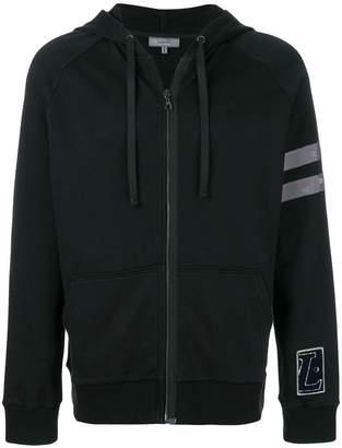 Lanvin distressed stripe hoodie