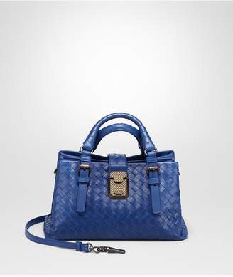 Bottega Veneta Cobalt Blue Intrecciato Calf Baby Roma Bag
