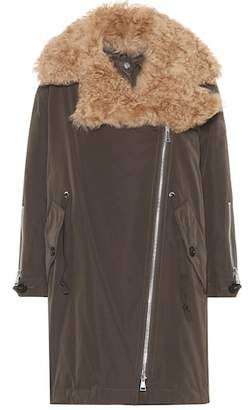 Moncler Aucuba shearling-trimmed down coat