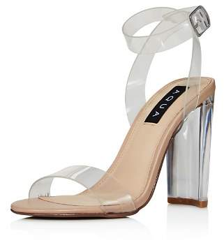 Aqua Women's Luna Clear High-Heel Sandals