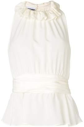 Moschino ruffle trim blouse