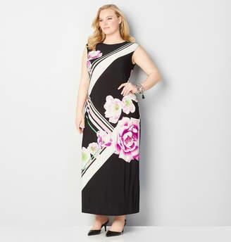 Avenue Placement Floral Maxi Dress