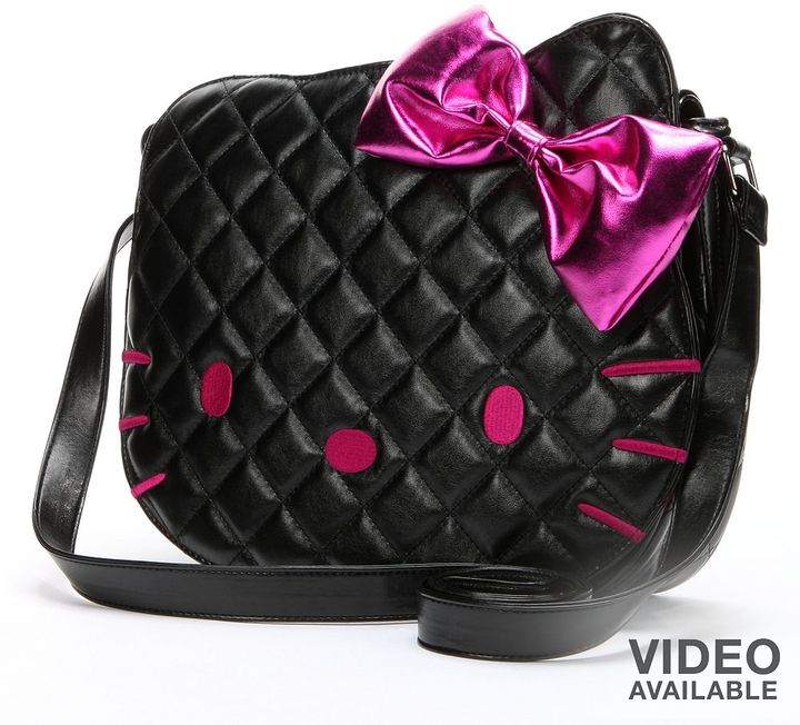 Hello Kitty quilted face messenger bag