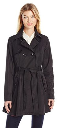Betsey Johnson Women's Cotton Trench with Corset Back/Velvet Trim $78.99 thestylecure.com
