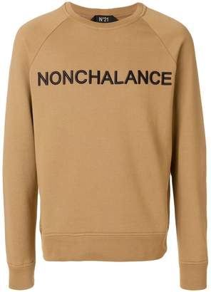 No.21 Nonchalance embroidered sweatshirt