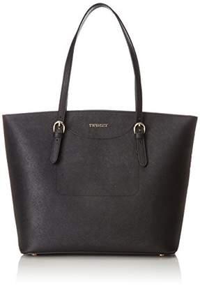 Twin-Set Twin Set As8pgn, Women's Shoulder bag, Nero, 13x33x31 cm (W x H L)