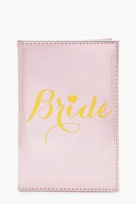 boohoo Bride Metallic Passport Holder