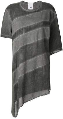 Lost & Found Rooms sheer asymmetric T-shirt