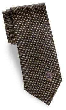 Versace Grid Silk Tie