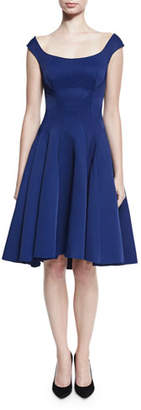 Zac Posen Ribbed Sleeveless Fit-&-Flare Cocktail Dress, Navy $1,990 thestylecure.com