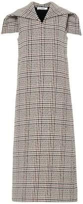 Jil Sander Checked wool-blend midi dress
